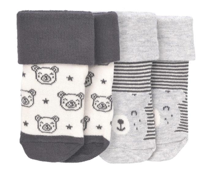 Newborn Socken mit Teddy-Design