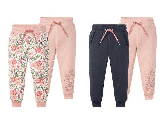 rosa und blaue Sweathosen für Mädchen