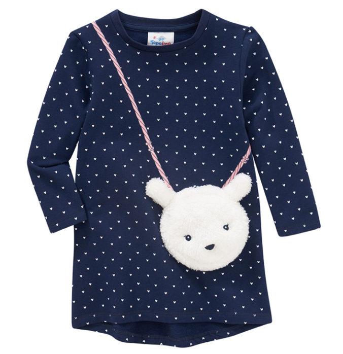 Kleid mit applizierter Tasche für Mädchen