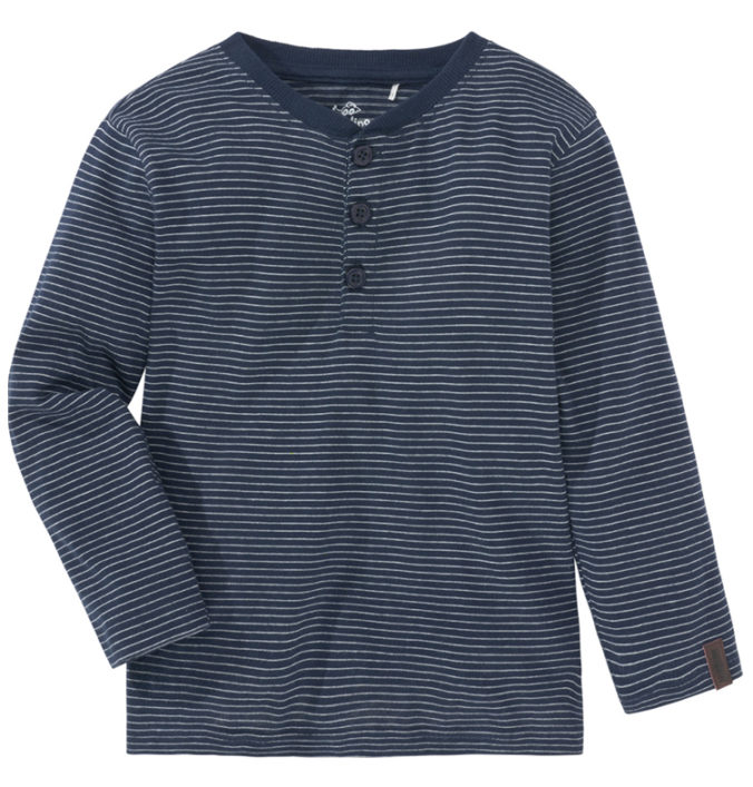 blaues gestreiftes Langarmshirt für Jungen