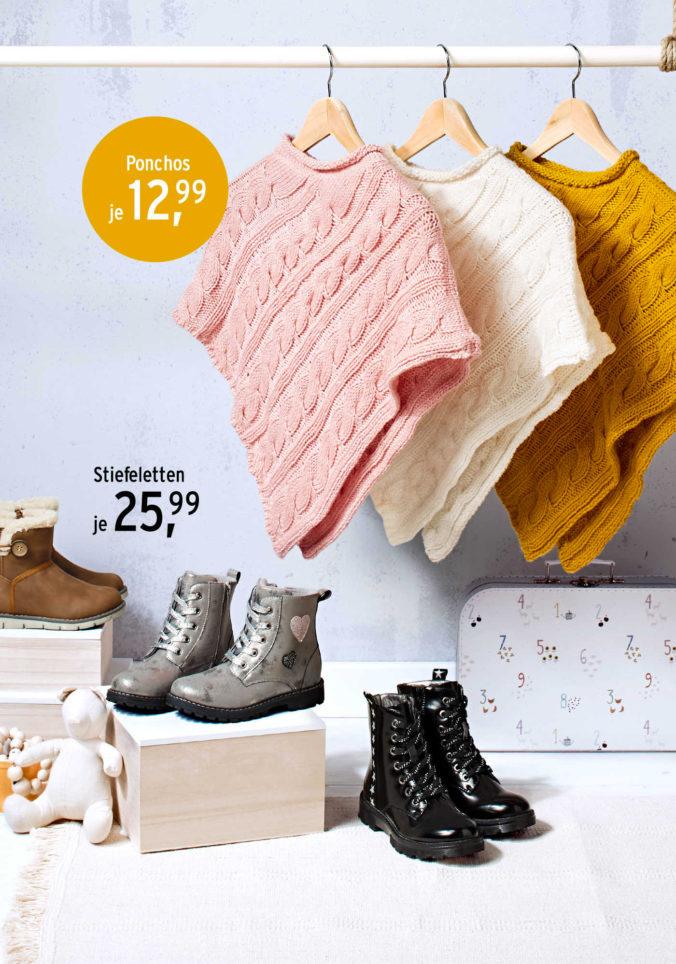 Schuhe und Ponchos für Mädchen