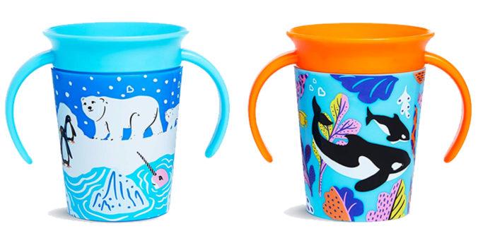 Trinklernbecher mit Orca und Eisbär Motiven