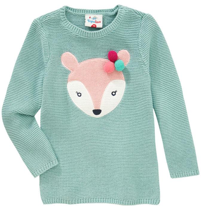 Pullover mit Rehmotiv für Mädchen