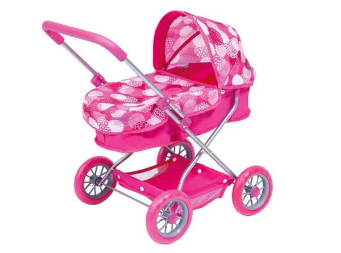 Pinker Puppenwagen