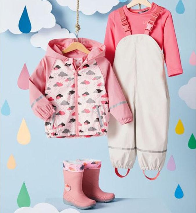 Rosa Regenkleidung für Mädchen