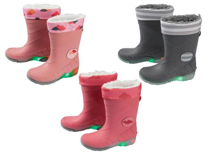 Regenstiefel mit Blinklicht für Mädchen