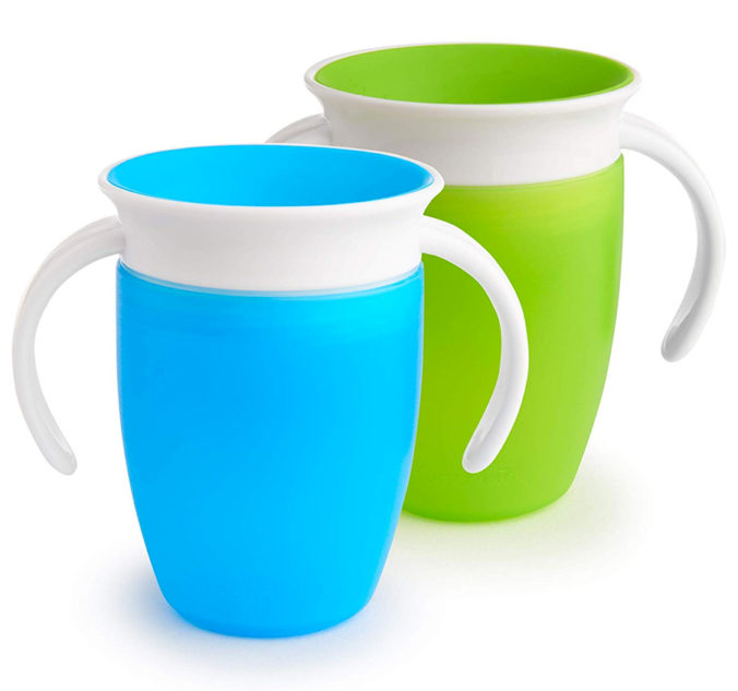 blauer und grüner Trinklernbecher im Doppelpack