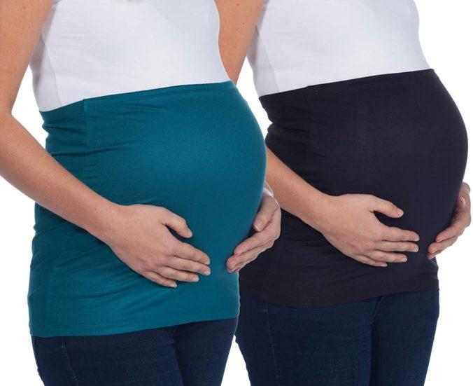 Schwangere mit BAuchband