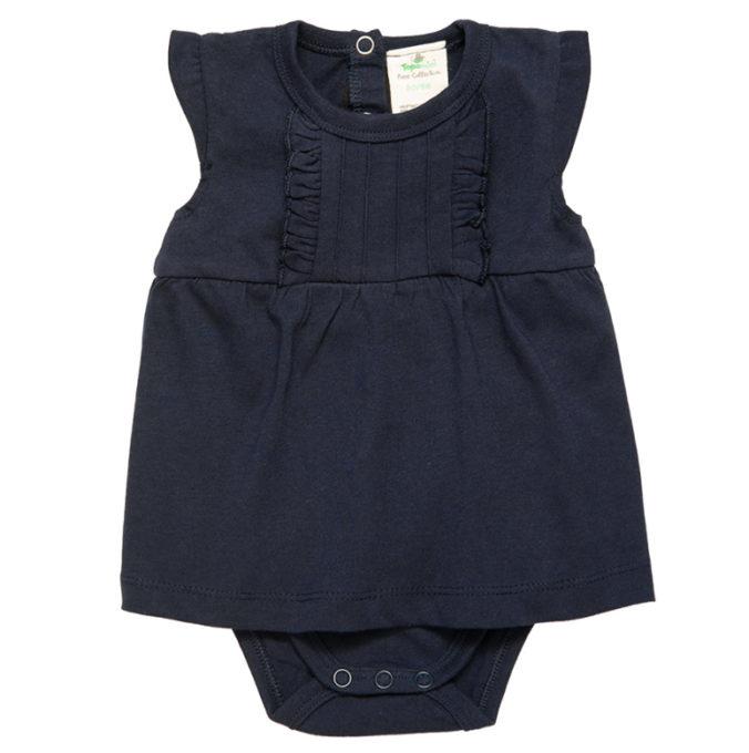 blaues Bodykleid für Babys