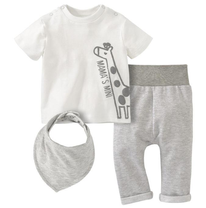 Dreiteiliges Modeset für Babys