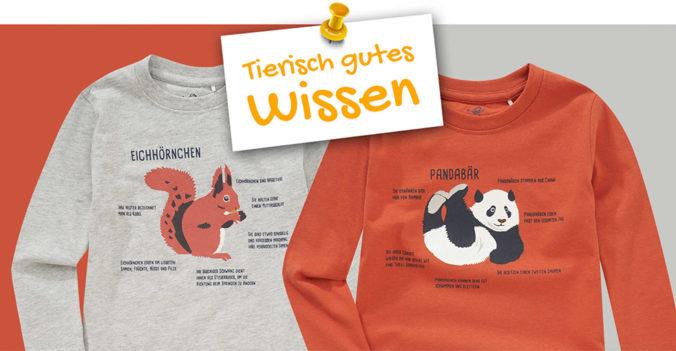 Langarmshirts mit Tiermotiven für Kinder