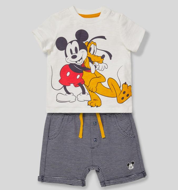 Mode Set mit Mickey Mouse und Pluto Print für Kinder