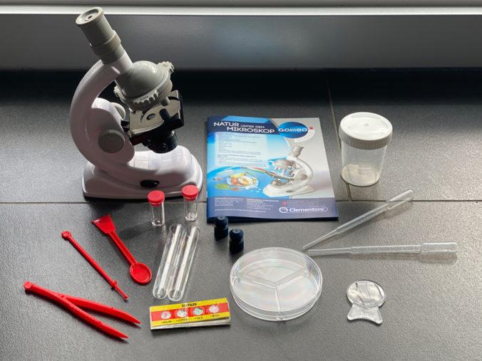 Clementoni Mikroskop inkl. Zubehör für Kinder