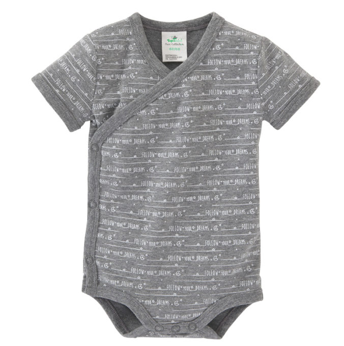 grauer Wickelbody für Babys