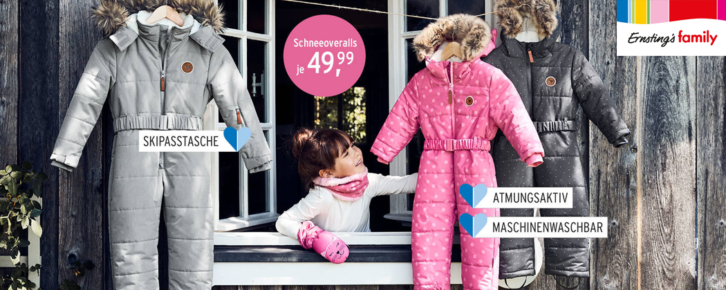 Ernstings Family Winteroveralls für Kinder