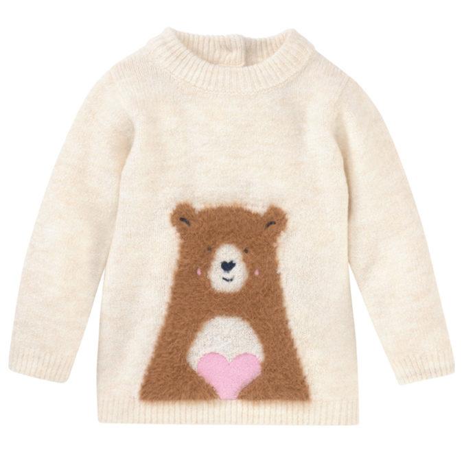 Strcikpulliver mit Bärenmotiv für Kinder