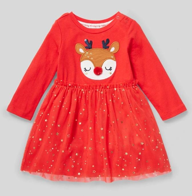 Rotes Kleid für Babys
