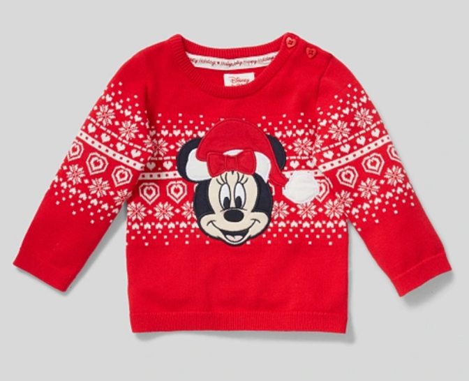 Minnie Mouse Weihnachtspullover