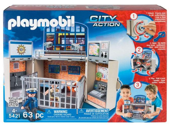 Aufklappbare Polizeistation von Playmobil