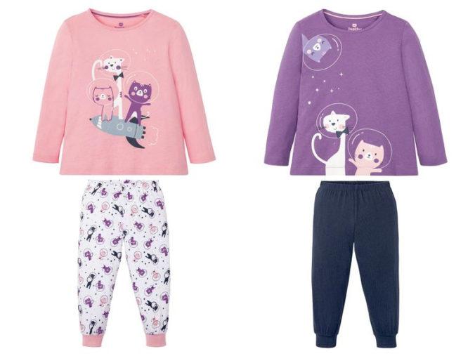Pyjamas mit Katzenmotiven für Mädchen