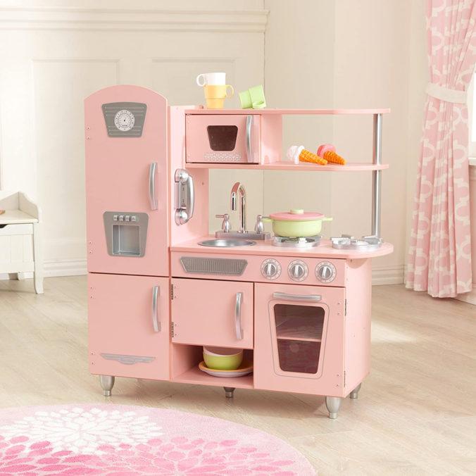 rosa Retroküche für Kinder