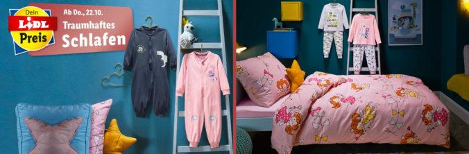 Kinderschlafzimmer und Pyjamas