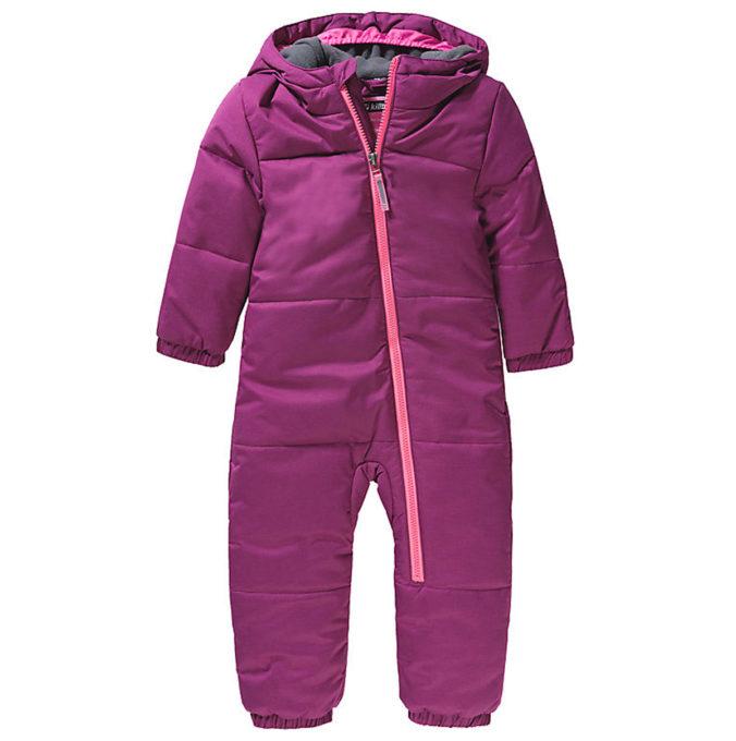 Beerenfarbener Schneeanzug für Kinder