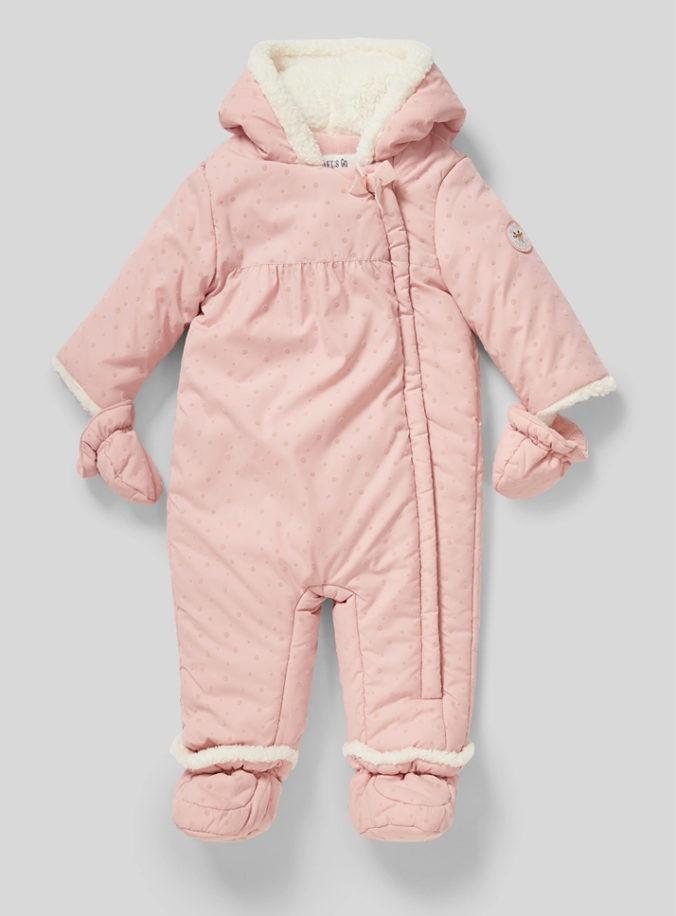 rosa Schneeanzug für Mädchen