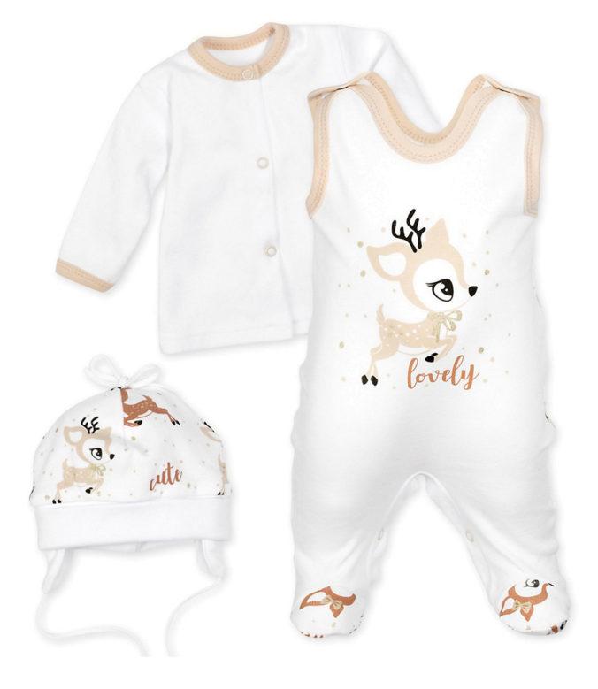 Strampler mit Rehmotiv für Babys