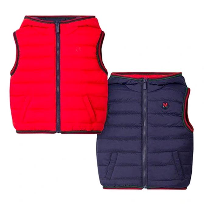 Wendesteppweste in blau und rot für Kinder