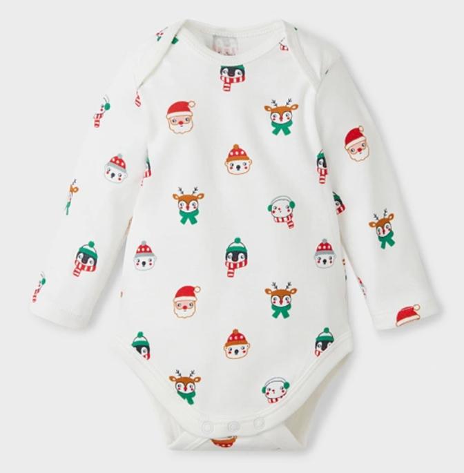 Weihnachtsbodys für Babys