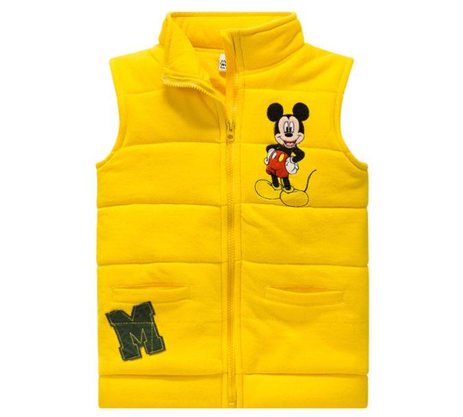 Gelbe Mickey Mouse Weste für Jungen