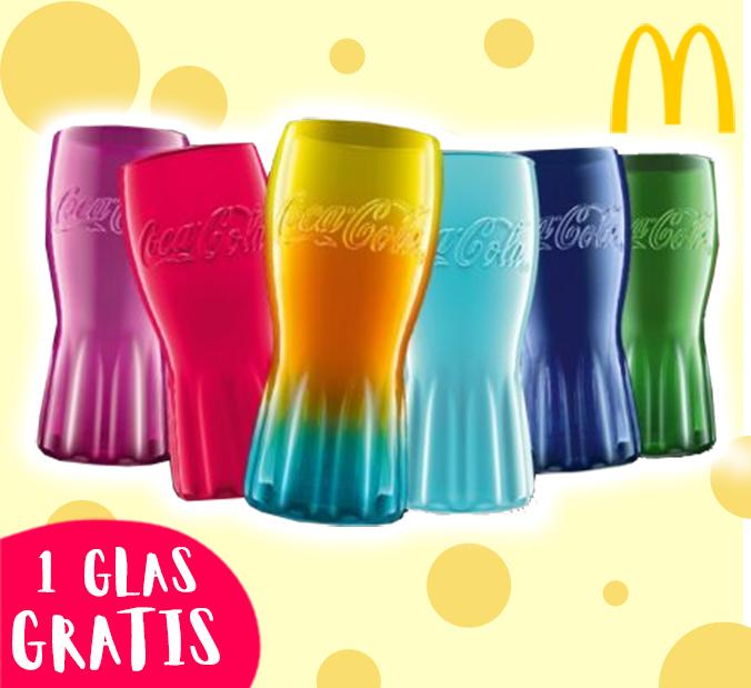 Bunte McDonalds Colagläser