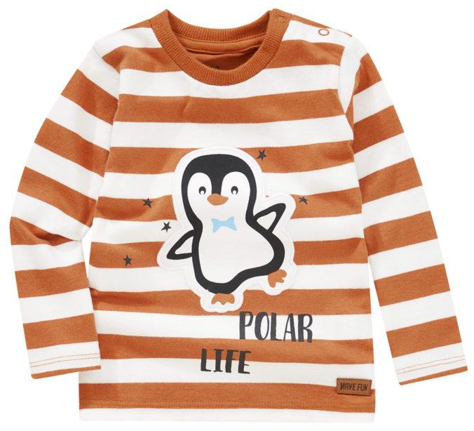 Langarmshirt mit Pinguin-Motiv für Babys