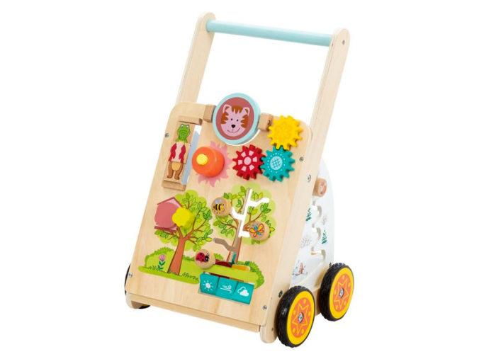 Lauflernwagen aus Holz für Kinder
