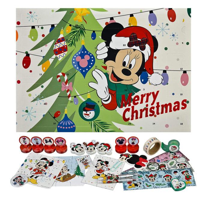Mickey Mouse Adventskalender mit Schreibwaren