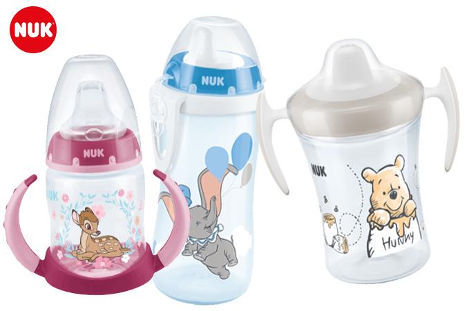 NUK Flaschen mit Bamb, Dumbo und Winnie Pooh Design