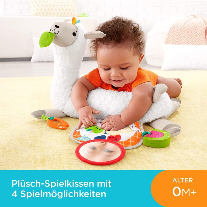 Fisher-Price GLK39 - 4 in 1 Lama weiches Spielkissen