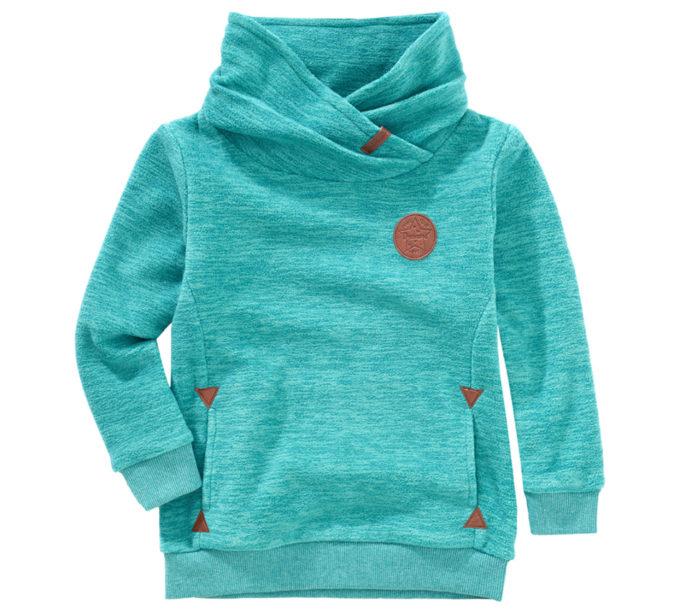 türkisfarbener Pullover für Mädchen