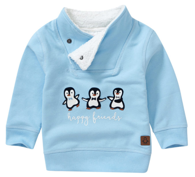 blauer Pullover mit Pinguin-Print für Babys