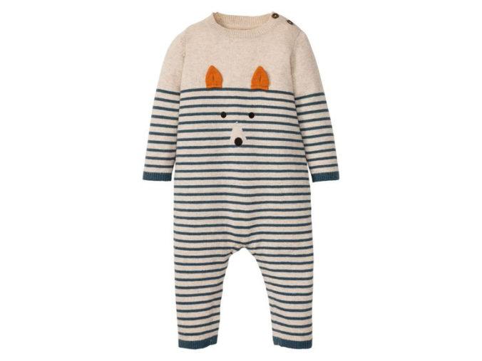 Strickoverall mit Fuchsmotiv für Babys