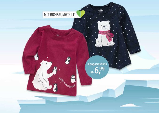 Winterkleidung mit Eisbär-Motiven für Kinder