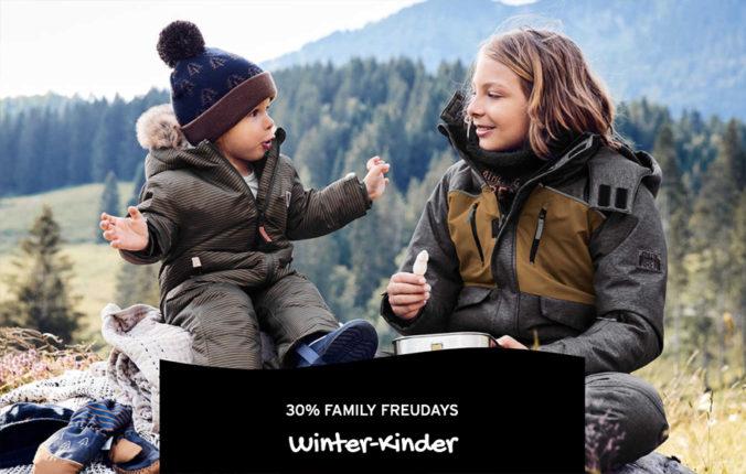 Kinder in Winterkleidung