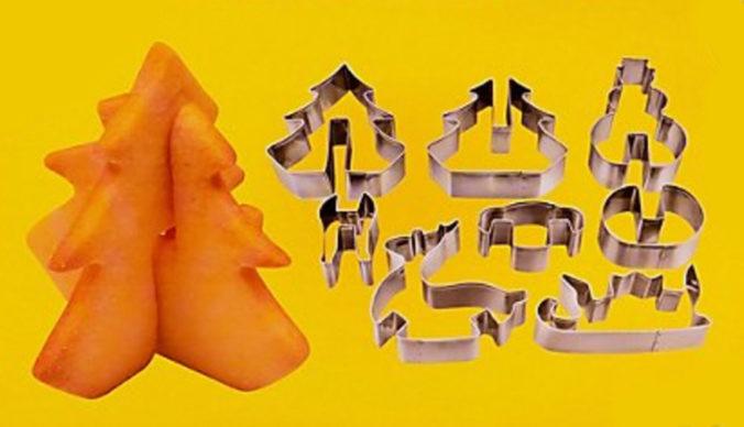 3D Keksausstecher mit Weihnachtsmotiven