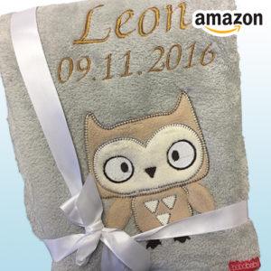 Für 21,52€ kuschelige personalisierte Babydecke bei Amazon