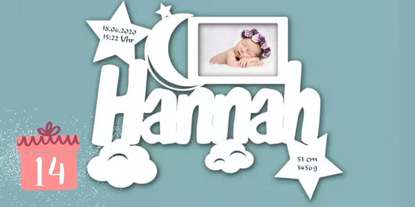 Personalisierter Bilderrahmen für Babys