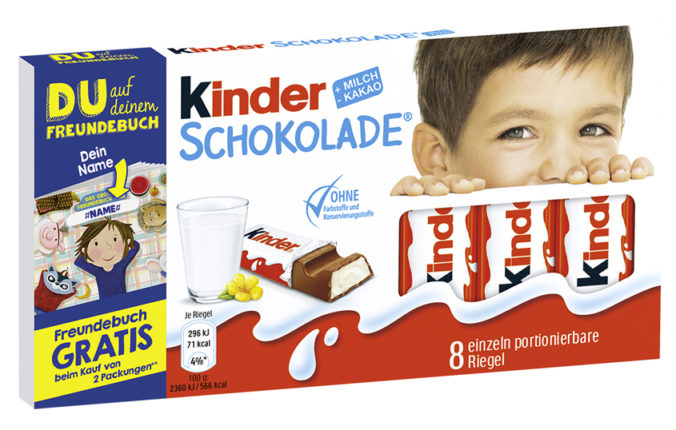 Kinderschokolade Aktionspackung