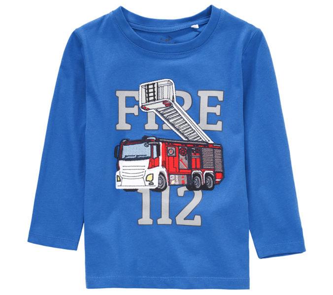 Langarmshirt mit Feuerwehr-Motiv für Jungen