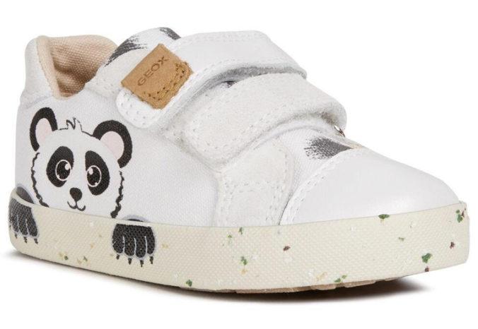 Sneaker mit Panda Design von Geox für Kinder