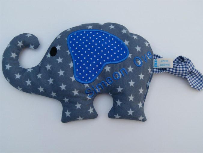 Personalisiertes Wärmekissen in Elefantenform
